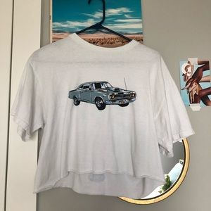 brandy melville car tshirt